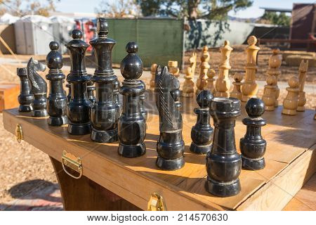 Chess Table During Tumbleweed Festival