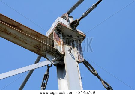 Steel Pole With Cables Turnbuckles