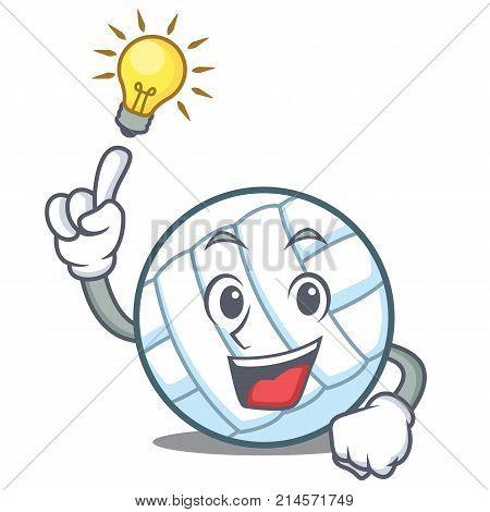 Have an idea volley ball character cartoon vector illustration