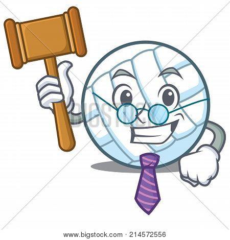 Judge volley ball character cartoon vector illustration