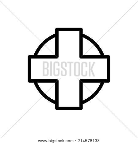 Hospital line icon. High quality black outline logo for web site design and mobile apps. Vector illustration on a white background.