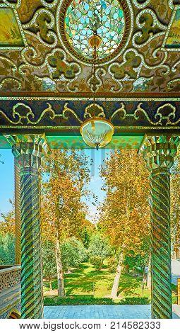 The Porch Of Windcatchers Building In Golestan, Tehran