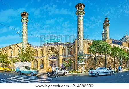 Panorama Of Shahid Motahari (sepahsalar) Mosque, Tehran