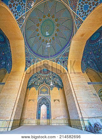 Panorama Of Summer Terrace Of Sepahsalar Mosque, Tehran