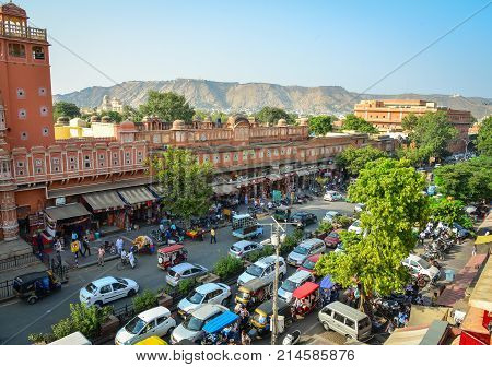Street At Downtown In Jaipur, India