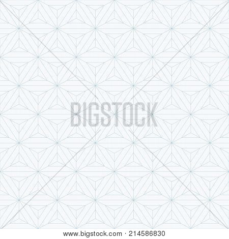 Abstract triangles background. Repeating geometric tiles. Linear grid with triangles. Subtle geometric texture. Seamless triangles pattern. Light geometric background. Contemporary graphic design.