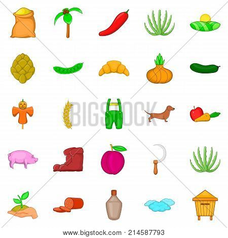 Manual labor icons set. Cartoon set of 25 manual labor vector icons for web isolated on white background