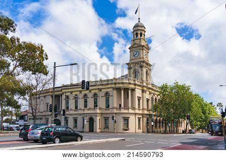 Paddington Town Hall Building On Oxford Street On Sunny Day