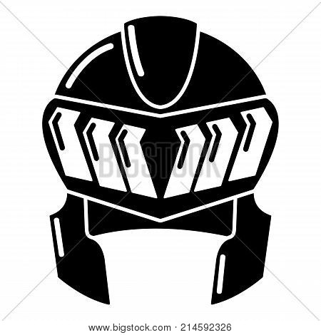 Knight helmet medieval icon. Simple illustration of knight helmet medieval vector icon for web