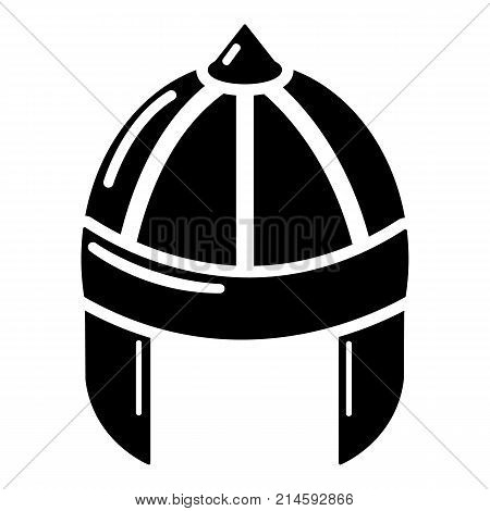 Knight helmet guard icon. Simple illustration of knight helmet guard vector icon for web