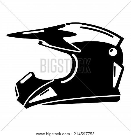Motorcycle helmet icon. Simple illustration of motorcycle helmet vector icon for web
