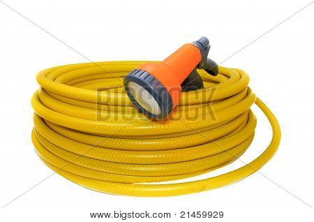 Hose For Watering The Garden With The Spray