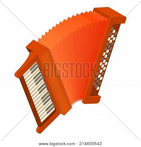 Accordion icon. Isometric illustration of accordion vector icon for web