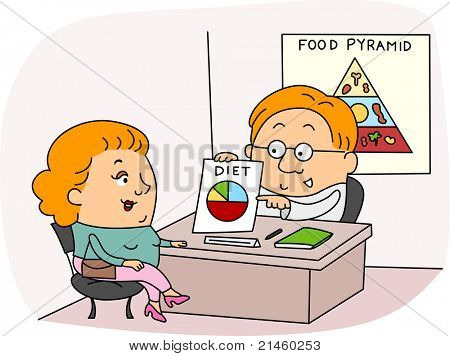 Illustration of a Dietitian at Work