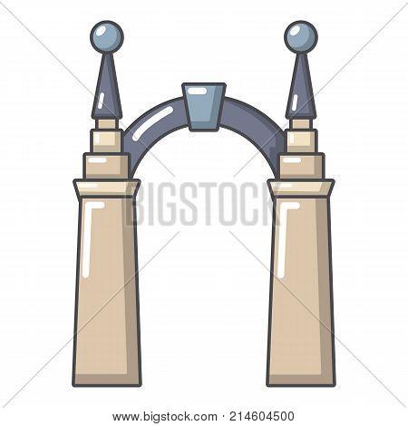 Archway elf icon. Cartoon illustration of archway elf vector icon for web