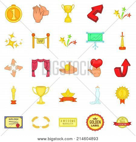 Stipend icons set. Cartoon set of 25 stipend vector icons for web isolated on white background