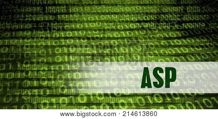 Asp Coding Language with Green Binary Background