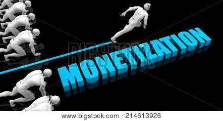 Superior Monetization Concept with Competitive Advantage 3D Render