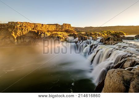 Shoshone Falls at sunrise in Twin Falls, Idaho, USA.