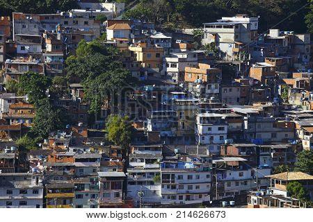 Brazilian favela in Rio de Janeiro (shantytown)