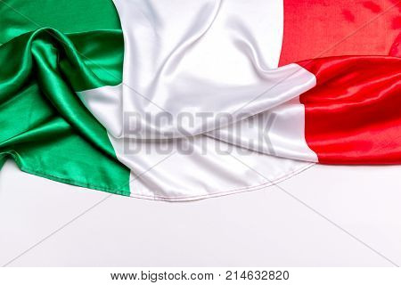 Authentic flag of the Italy