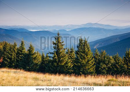 Incredible view of the remote hills. Location Carpathian, Ukraine, Europe. Picture of wild area. Scenic image of tourism concept. Discover the beauty of earth. Excellent adventure wallpapers.