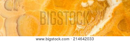 High resolution stone background. Onyx or yellow marble. Panoramic image. Can be used for kitchen skinali.