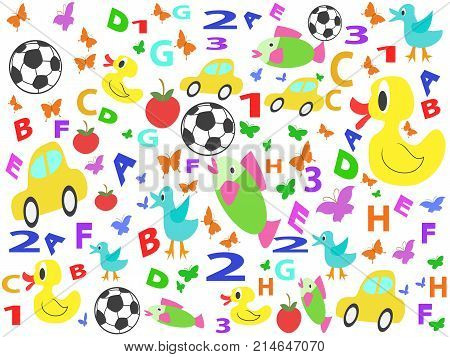 trhe seamless background of children doodle drawing patterns
