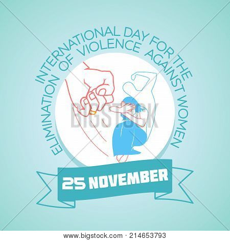 Calendar for each day on november 25. Greeting card. Holiday - International Day For the Elimination of Violence against Women. Icon in the linear style poster