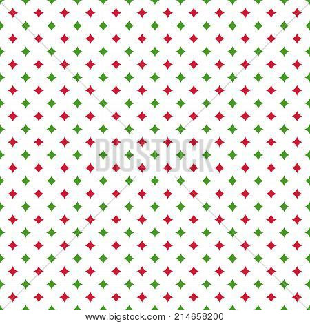 Christmas seamless pattern with curved stars. Happy New Year background. Vector design for winter holidays. Endless texture for wallpaper web page background wrapping paper and etc.