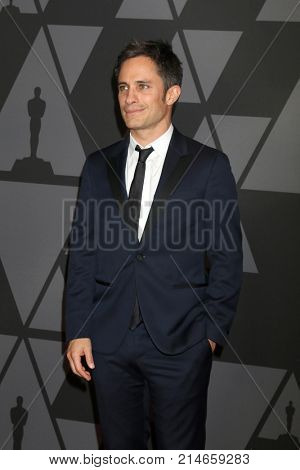 LOS ANGELES - NOV 11:  Gael Garcia Bernal at the AMPAS 9th Annual Governors Awards at Dolby Ballroom on November 11, 2017 in Los Angeles, CA