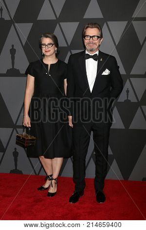 LOS ANGELES - NOV 11:  Gisele Schmidt, Gary Oldman at the AMPAS 9th Annual Governors Awards at Dolby Ballroom on November 11, 2017 in Los Angeles, CA