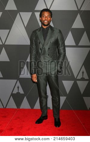 LOS ANGELES - NOV 11:  Chadwick Boseman_ at the AMPAS 9th Annual Governors Awards at Dolby Ballroom on November 11, 2017 in Los Angeles, CA