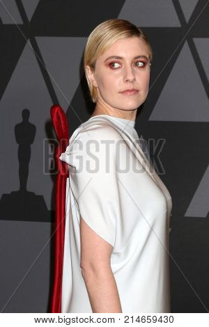 LOS ANGELES - NOV 11:  Greta Gerwig at the AMPAS 9th Annual Governors Awards at Dolby Ballroom on November 11, 2017 in Los Angeles, CA