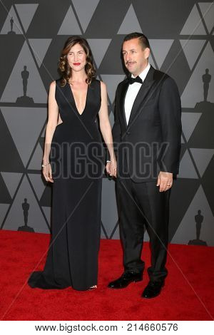 LOS ANGELES - NOV 11:  Jackie Sandler, Adam Sandler at the AMPAS 9th Annual Governors Awards at Dolby Ballroom on November 11, 2017 in Los Angeles, CA