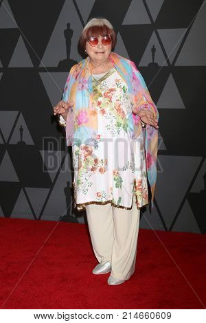 LOS ANGELES - NOV 11:  Agnes Varda_ at the AMPAS 9th Annual Governors Awards at Dolby Ballroom on November 11, 2017 in Los Angeles, CA