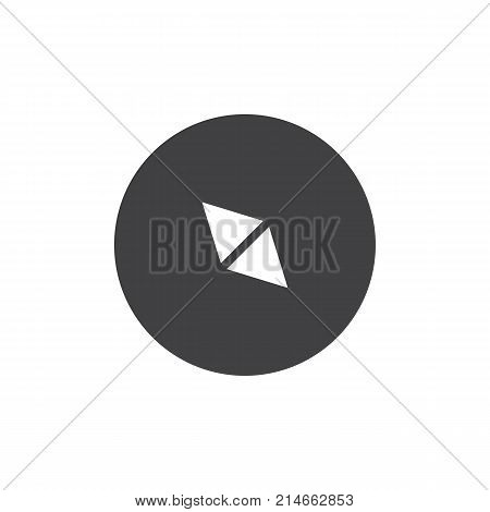 Compass icon vector, filled flat sign, solid pictogram isolated on white. Navigation arrow symbol, logo illustration.