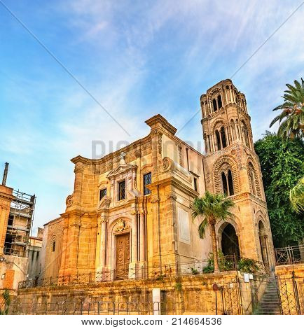 The Martorana or Co-Cathedral of St. Mary of the Admiral in Palermo - Sicily, Italy