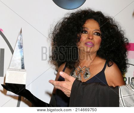 LOS ANGELES - NOV 19:  Diana Ross at the American Music Awards 2017 at Microsoft Theater on November 19, 2017 in Los Angeles, CA