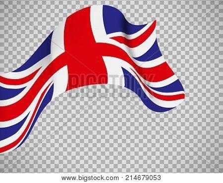 England flag icon on transparent background. Vector illustration