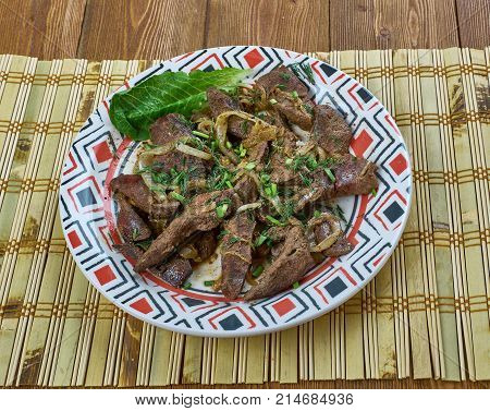 Armenian Dish From Beef Liver