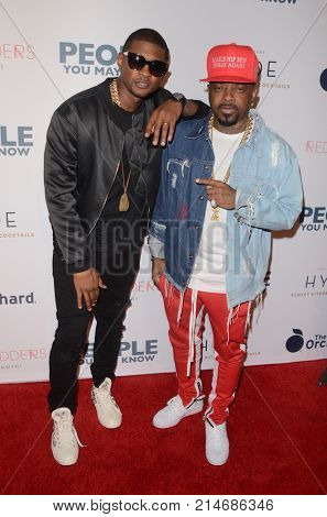 LOS ANGELES - NOV 13:  Usher Raymond IV, Jermaine Dupri at the