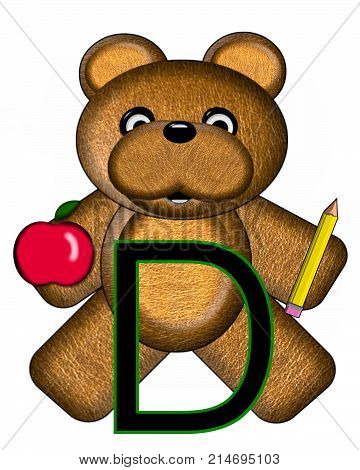 Bear Alphabet Lesson D