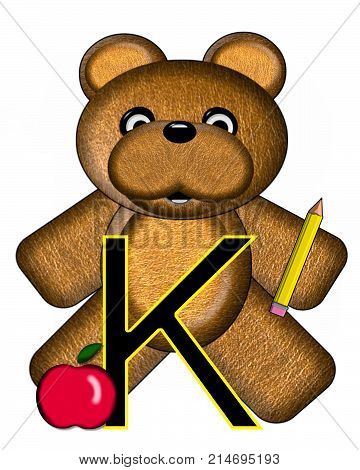 Bear Alphabet Lesson K