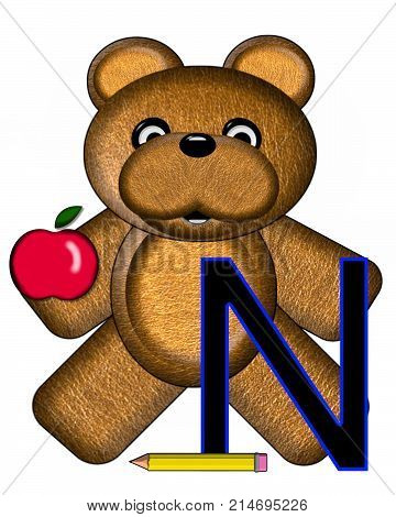 Bear Alphabet Lesson N
