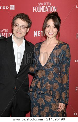 LOS ANGELES - NOV 9:  Nicholas Britell, Sara Bareilles at the Patron of the Artists Awards 2017 at Wallis Annenberg Centeron November 9, 2017 in Beverly Hills, CA