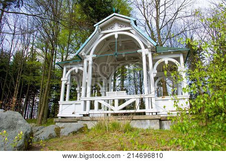 Mescery´s view point - building was inaugurated in 1850 in honor of an important guest of the small west bohemian spa Marianske Lazne (Marinebad) - Czech proconsul, Baron von Mescery - Czech Republic