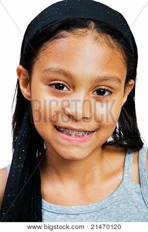 A Cute Girl Smiling