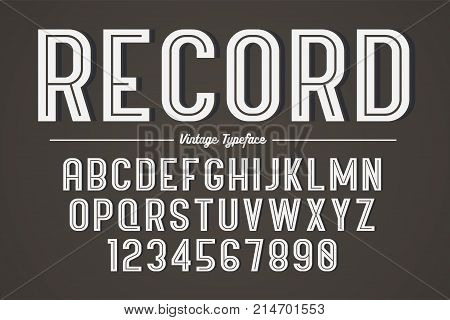 Vector decorative bold font design, alphabet, typeface, typography Color swatches
