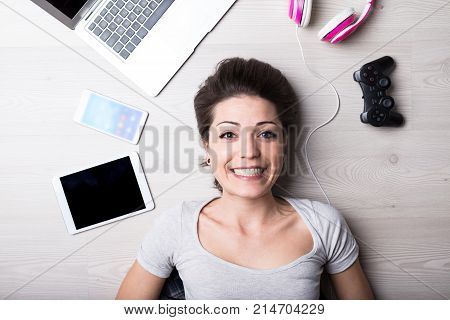 Smiling Woman Is A Photographer And Graphic Designer